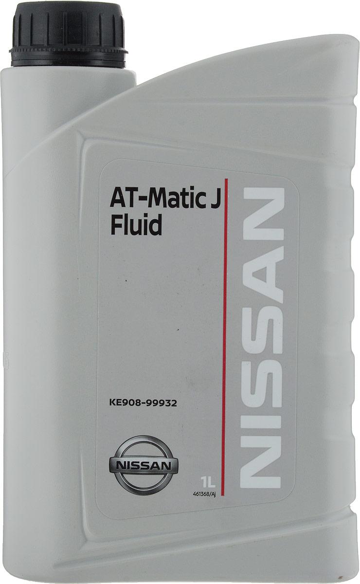 Масло трансмиссионное Nissan At-Matic J Fluid, синтетическое, для АКПП Nissan, 1 л компрессорное масло roto injekt fluid в челнах
