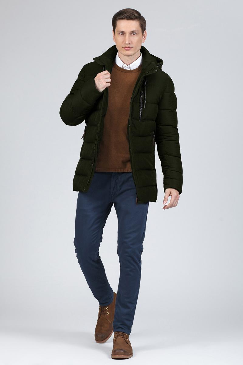 Пуховик мужской Tom Farr, цвет: хаки. T4FM3134.47810-1. Размер XL (52)T4FM3134.47810-1