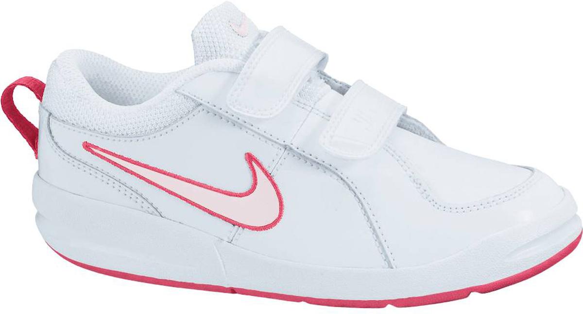 Кроссовки детские Nike Pico 4, цвет: белый. 454477-103. Размер 11 (27)454477-103Детские кроссовки Pico 4 от Nike, выполненные из натуральной и искусственной кожи, дополнены вставками из текстиля. Ремешки с застежками-липучками надежно фиксируют модель на ноге. Текстильная подкладка не натирает. Промежуточная подошва обеспечивает естественную вентиляцию. Подошва дополнена рифлением.
