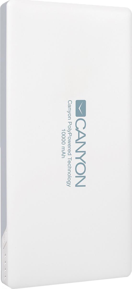 Canyon CNS-TPBP10W, White внешний аккумулятор (10000 мАч) аккумулятор canyon power bank 5000mah white h2cnstpbp5w cns tpbp5w