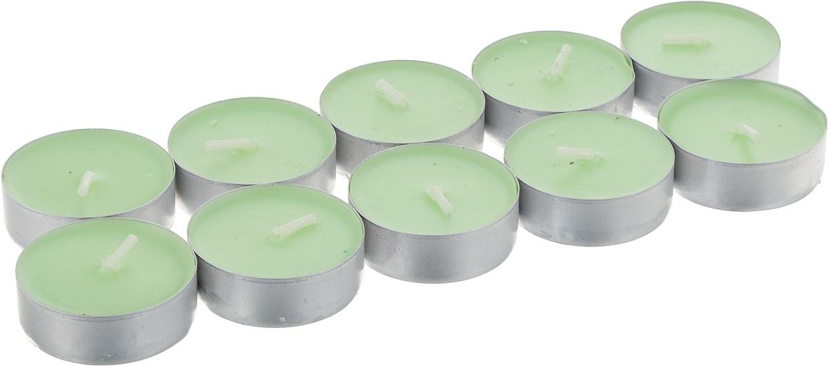 Набор чайных свечей Домашний сундук, ароматизированные, цвет: зеленый, 10 штДС-111_зеленыйНабор Домашний Сундук состоит из 10 круглыхароматизированных свечей, изготовленных из парафина.Ароматы и разнообразие вкусов помогают снять напряжение,стимулируют деятельность, восстанавливают аппетит, придаютжизненную энергию.Первичный парафин в составе свечей обеспечивает качествогорения (выгорает полностью). При горении не трещат, непоявляются искры. Время горения 4 часа.Такой набор украсит интерьер вашего дома или офиса инаполнит его атмосферу теплом и уютом. В наборе 10 свечей.