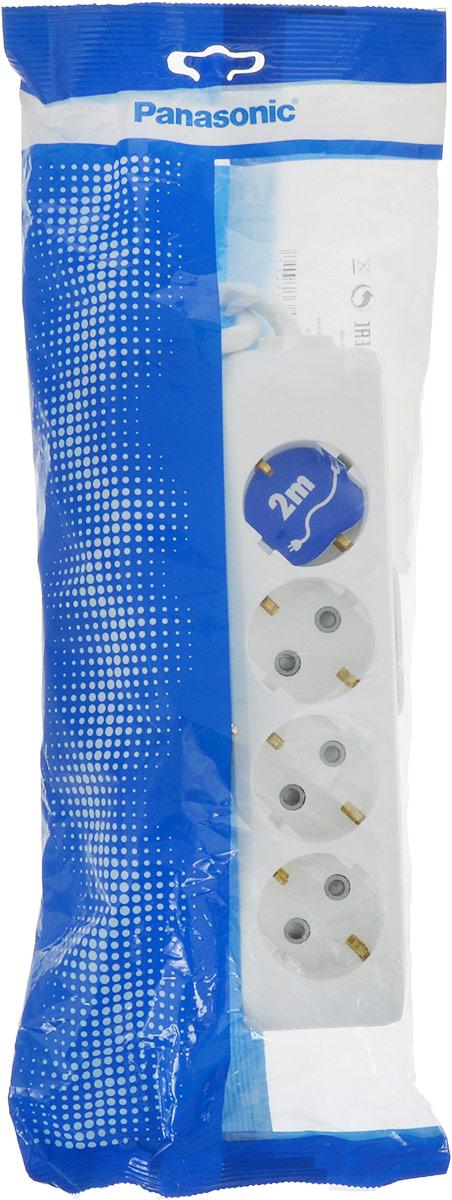 Удлинитель сетевой Panasonic X-tendia, с защитой от детей, цвет: белый, 4 розетки, 2 м. 5493954939Сетевой удлинитель Panasonic X-tendia предназначен дляподключения удаленных от стационарной розеткиэлектроприборов, имеющих шнур с круглой вилкой.