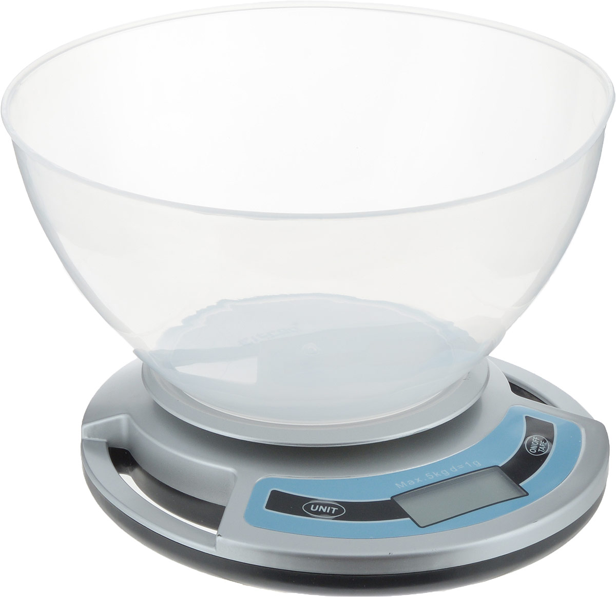 """Весы кухонные """"Eltron"""", электронные, с чашей, цвет: серый, прозрачный, до 5 кг. 9260EL"""
