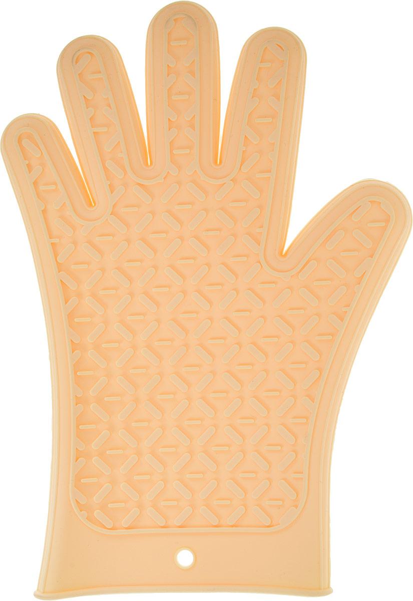 Перчатка термостойкая Marmiton, силиконовая, 27,5 х 18,5 см17209_бежевыйМягкая перчатка Marmiton, выполненная из прочного силикона, защитит ваши руки от возможных ожогов. Универсальна форма прихватки дает возможность использовать ее как правой, так и левой рукой.