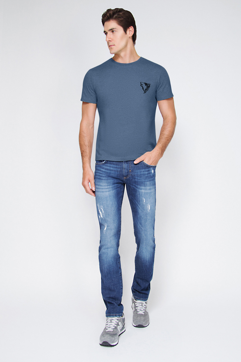 Футболка мужская Tom Farr, цвет: синий. TM4017.68809-1-coll. Размер XL (52)TM4017.68809-1-coll