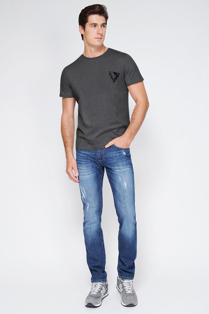 Футболка мужская Tom Farr, цвет: темно-серый. TM4017.57809-1-coll. Размер S (46) костюмы tom farr костюм