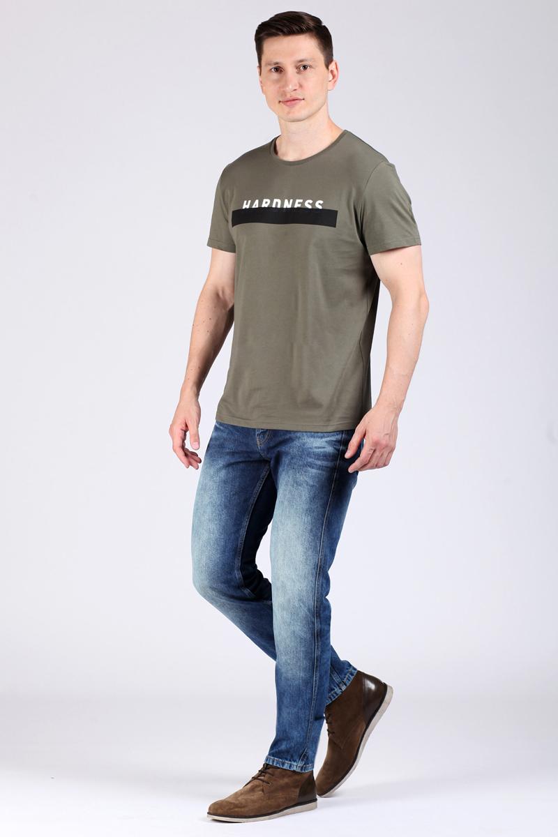 Футболка мужская Tom Farr, цвет: хаки. TM4035.47808-1-coll. Размер 3XL (56) костюмы tom farr костюм