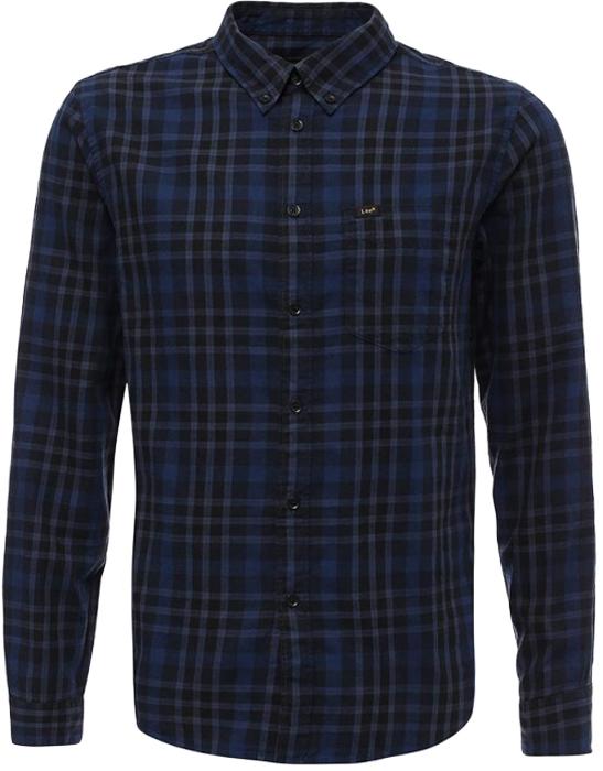 Рубашка мужская Lee, цвет: синий. L66VENHY. Размер XXL (54) рубашка мужская lee cooper цвет темно зеленый lchmw044 размер xxl 54