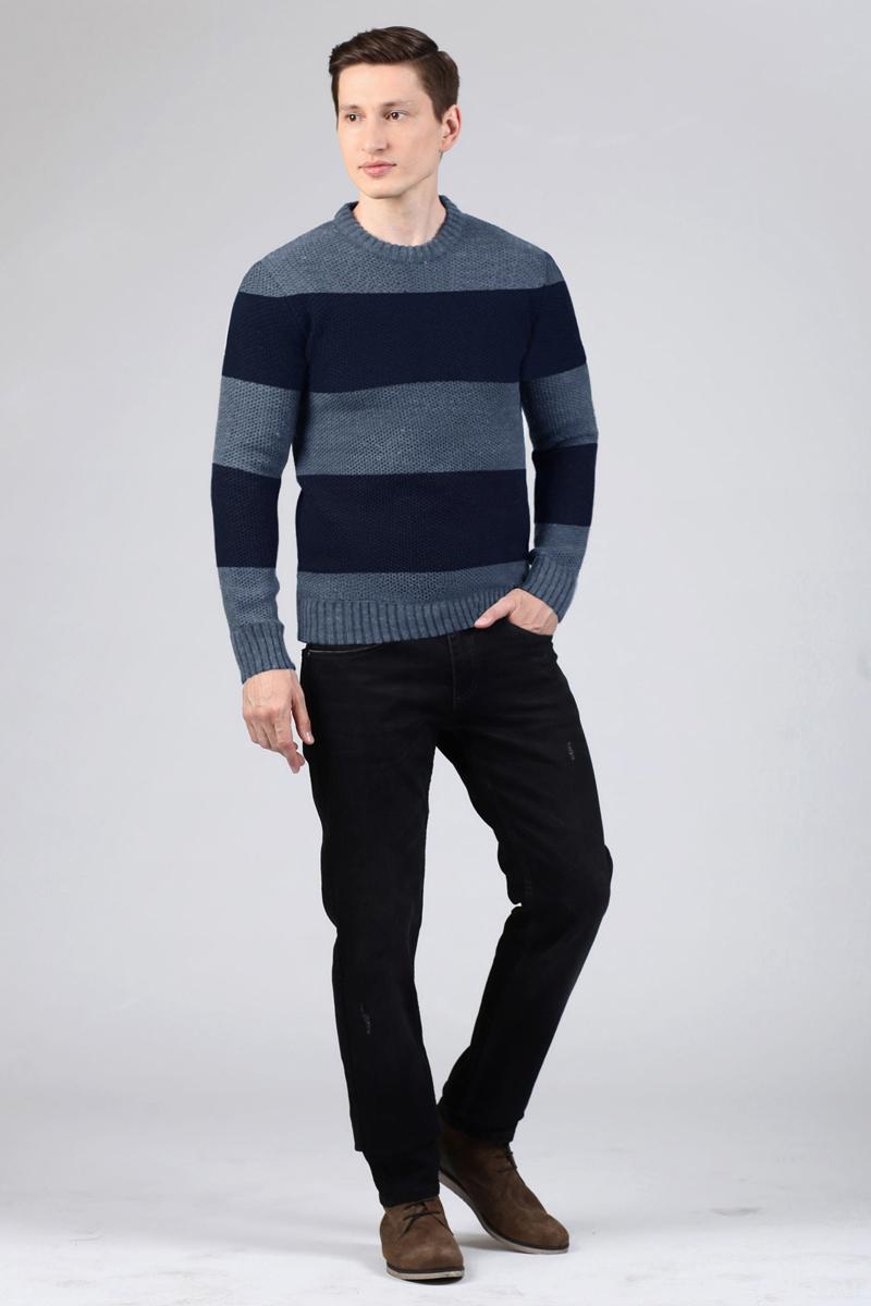 Джемпер мужской Tom Farr, цвет: темно-синий. TM4046.38809-1-coll. Размер S (46)