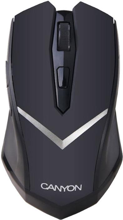 Canyon CNE-CMSW3, Black мышьCNE-CMSW3Canyon CNE - оптическая мышь, которой могут пользоваться как правши, так и левши. Устройство подключается к компьютеру или ноутбуку по радиоканалу, при помощи миниатюрного передатчика. Эргономичная форма обеспечивает комфорт даже при длительном использовании устройства. Разрешение сенсора - 800 dpi, 1600 dpi.