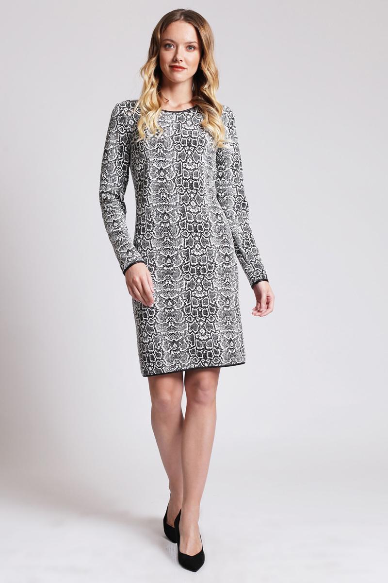 Платье Tom Farr, цвет: черный. TW4513.58809-2-coll. Размер L (48)TW4513.58809-2-collПлатье от Tom Farr выполнено из высококачественного материала. Модель прямого кроя с круглым вырезом горловины и длинными рукавами.