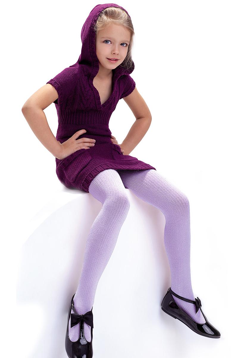 Колготки детские Knittex, цвет: лиловый. Agatka. Размер 116/122AGATKAКлассические детские колготки Knittex Agatka изготовлены специально для девочек.Плотные колготки с продольным рельефным узором в виде мелкого рубчика имеют широкую резинку и комфортные плоские швы. Теплые и прочные, эти колготки равномерно облегают ножки, не сдавливая и не доставляя дискомфорта. Эластичные швы и мягкая резинка на поясе не позволят колготам сползать и при этом не будут стеснять движений. Входящие в состав ткани полиамид и эластан предотвращают растяжение и деформацию после стирки. Однотонная расцветка позволит сочетать эти колготки с любыми нарядами маленькой модницы.Классические колготки - это идеальное решение на каждый день для прогулки, школы, яслей или садика. Такие колготки станут великолепным дополнением к гардеробу вашей красавицы.