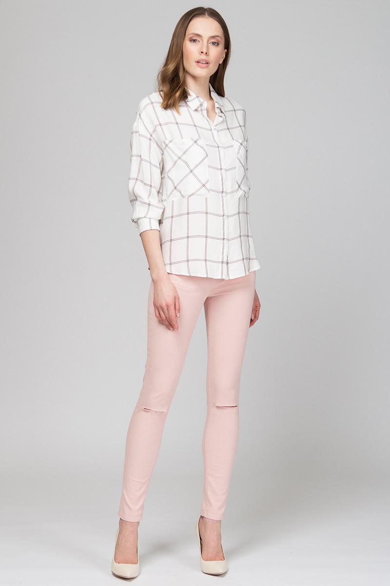 Блузка женская Tom Farr, цвет: молочный. TW7580.30702-1-coll. Размер M (46)TW7580.30702-1-coll