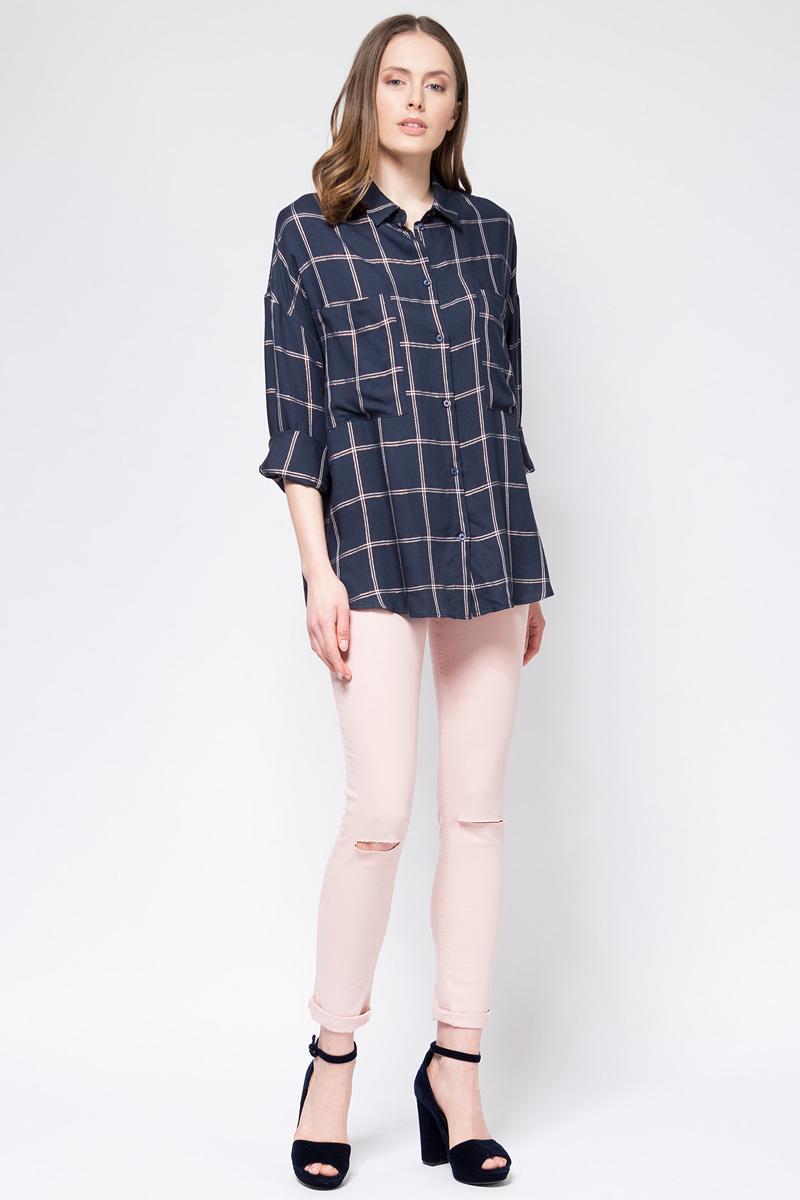 Блузка женская Tom Farr, цвет: темно-синий. TW7580.38702-1-coll. Размер L (48)TW7580.38702-1-coll