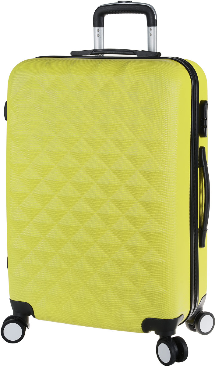 Чемодан Proffi, на колесах, цвет: желтый, 43 х 30 х 67 см, 60 л. PH8368PH8368yellowСтильный пластиковый чемодан Proffi прекрасно подойдет для путешествий и поездок. Выполнен из поликарбоната. Внутри имеется 2 отделения. Закрывается чемодан на молнию и кодовый замок. Для удобства транспортировки имеется выдвижная ручка, а также боковая ручка.Размер: 43 х 30 х 67 см. Вес: 4,3 кг.Объем: 60 литров.Как выбрать чемодан. Статья OZON Гид