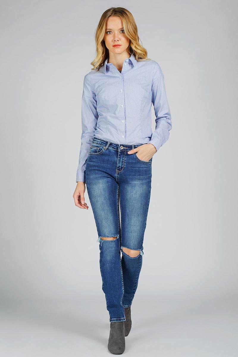 Джинсы женские Tom Farr, цвет: синий. T4FW5735.35807-2-coll. Размер 31-32 (48-32)T4FW5735.35807-2-collЖенские джинсы от Tom Farr выполнены из эластичного хлопкового денима. Модель облегающего кроя в поясе застегивается на пуговицу и имеет ширинку на молнии, имеются шлевки для ремня. Джинсы имеют классический пятикарманный крой и на коленях декорированы рваным эффектом.