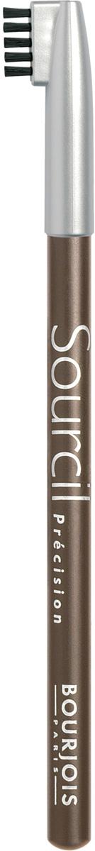 Bourjois Карандаш Для Бровей Контурный Sourcil Precision Тон 0429101344004Брови играют решающую роль в характере взгляда. Плотная текстура карандаша позволяет наполнить брови красивым, натуральным цветом. Идеальная щеточка придает бровям безупречный вид. Карандаш Sourcil Precision не растекается и позволяет при желании изменить форму брови.Как создать идеальные брови: пошаговая инструкция. Статья OZON Гид