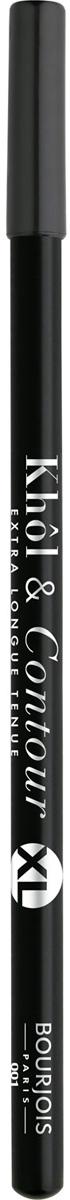 Bourjois Карандаш для глаз контурный Khol & Contour, Тон №001 XL29105334001Мягкая текстура, насыщенные пигментированные оттенки. Стойкость до 16 часов. Подходит для чувствительных глаз благодаря витамину Е и экстракту зеленого чая.