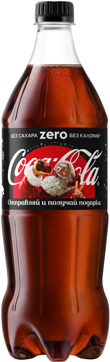 vesko cola лимонад 0 5 л Coca-Cola Zero напиток сильногазированный, 1 л