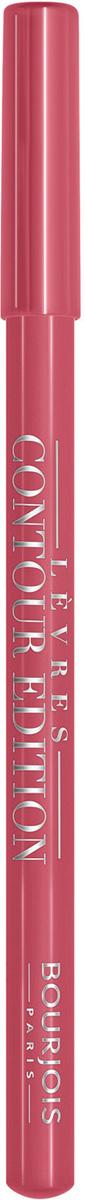 Bourjois Карандаш Контурный Для Губ Levres Contour Edition Тон 02 coton candy 1 мл29101284002Контурный карандаш для губ Contour Edition подходит для всех помад Bourjois, фиксирует помаду, результат остаётся на губах до 12 часов. Текстура карандаша обеспечивает легкость, мягкость и точность нанесения благодаря формуле, обогащенной маслом ши и маслом косточки винограда.