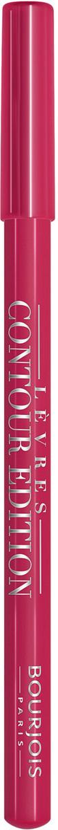 Bourjois Карандаш Контурный Для Губ Levres Contour Edition Тон 03 alerte rose 1 мл29101284003Контурный карандаш для ryб Levres Contour от Bourjois, отвечает всем требованиям современной женщины. Благодаря своей мягкой и тающей кремообразной текстуре карандаш легко наносится и придает губам ровный и четкий контур. Позволяет помаде лучше держаться на губах. Чрезвычайно мягкая, тающая текстура скользит и рисует на губах безупречную линию. Оттенки карандаша идеально соответствуют любому типу помады и блесков Bourjois
