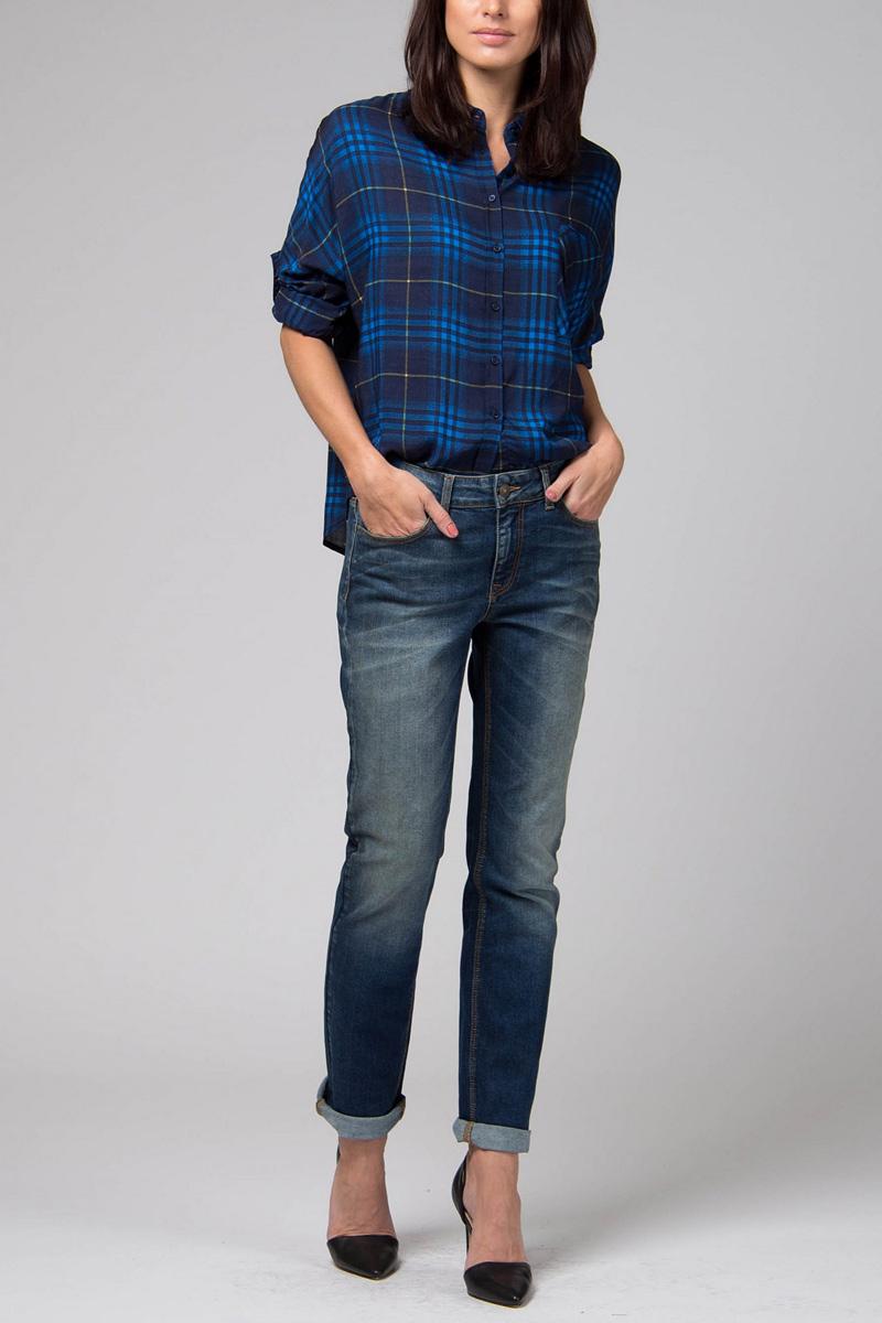 Джинсы женские Tom Farr, цвет: синий. TW5642.36709-1-jcoll. Размер 26-32 (42-32) костюмы tom farr костюм