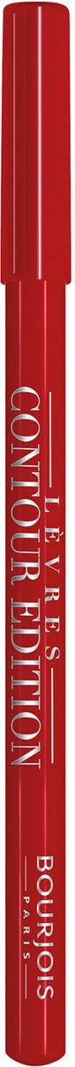 Bourjois Карандаш Контурный Для Губ Levres Contour Edition Тон 07 cherry boom boom 1 мл29101284007Контурный карандаш для ryб Levres Contour от Bourjois, отвечает всем требованиям современной женщины. Благодаря своей мягкой и тающей кремообразной текстуре карандаш легко наносится и придает губам ровный и четкий контур. Позволяет помаде лучше держаться на губах. Чрезвычайно мягкая, тающая текстура скользит и рисует на губах безупречную линию. Оттенки карандаша идеально соответствуют любому типу помады и блесков Bourjois