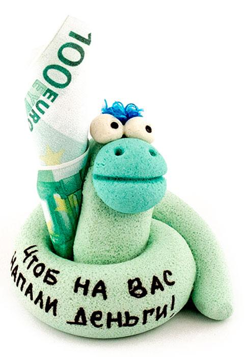 Фигурка декоративная Эврика Чтобы на вас напали деньги96218Небольшая фигурка-талисман ручной работы с шутливой надписью передаст ваши наилучшие пожелания получателю. Фигурка из специальной экологически безопасной массы, приготовленной на основе муки и соли, раскрашена вручную. Забавное маленькое существо, поселившееся у вас дома или в офисе, принесёт удачу и подарит сказочное настроение.