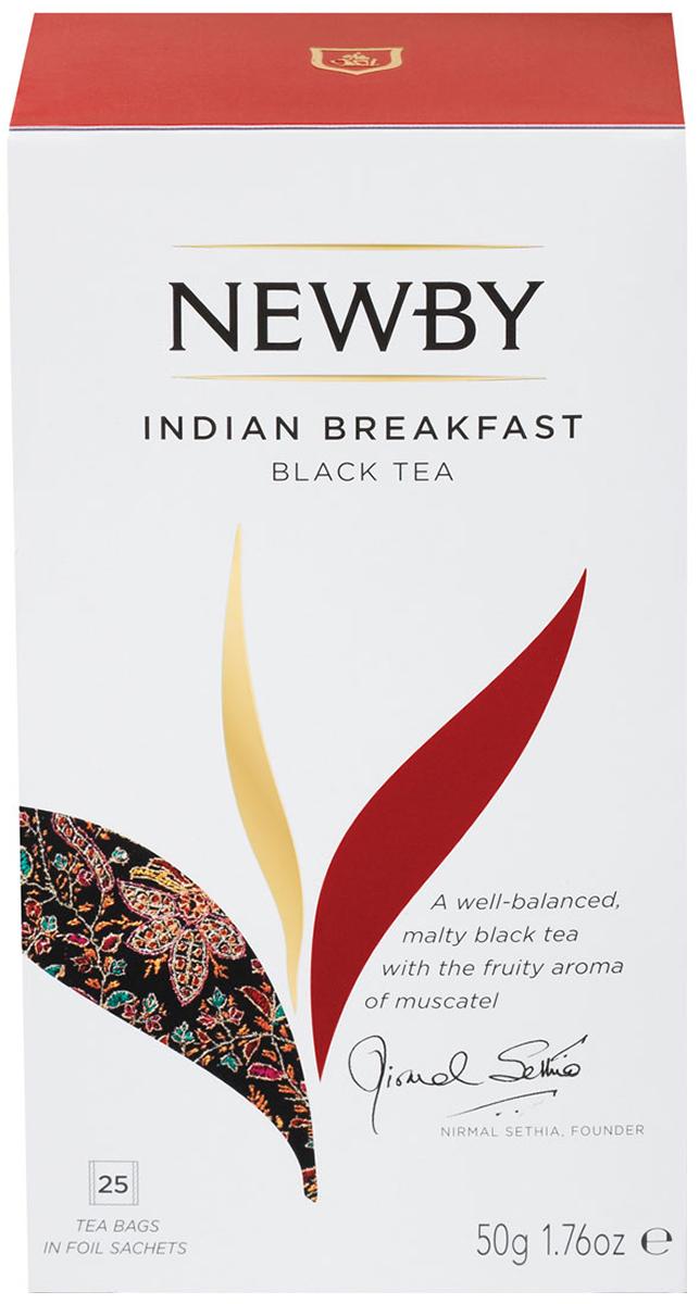 Newby Indian Breakfast черный чай в пакетиках, 25 шт newby assam черный чай в пакетиках 25 шт