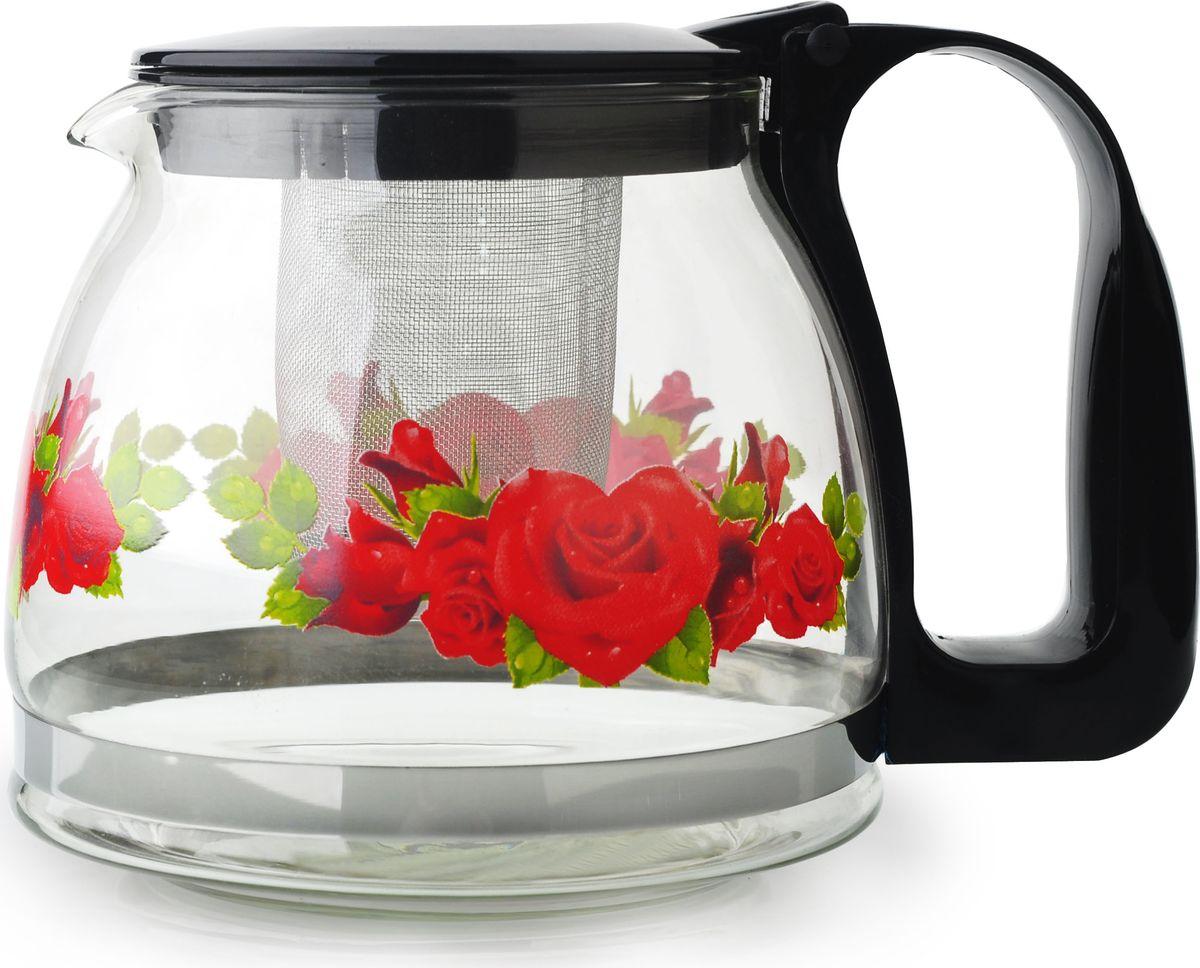 Чайник заварочный Bekker, цвет: черный, 1,25 лBK-7626Ручка и крышка пластиковая цветная. Ситечко из нержавеющей стали. Автоматическое открывание крышки. Подходит для чистки в посудомоечной машине. Состав: жаропрочное стекло. Объем: 1,25 л.