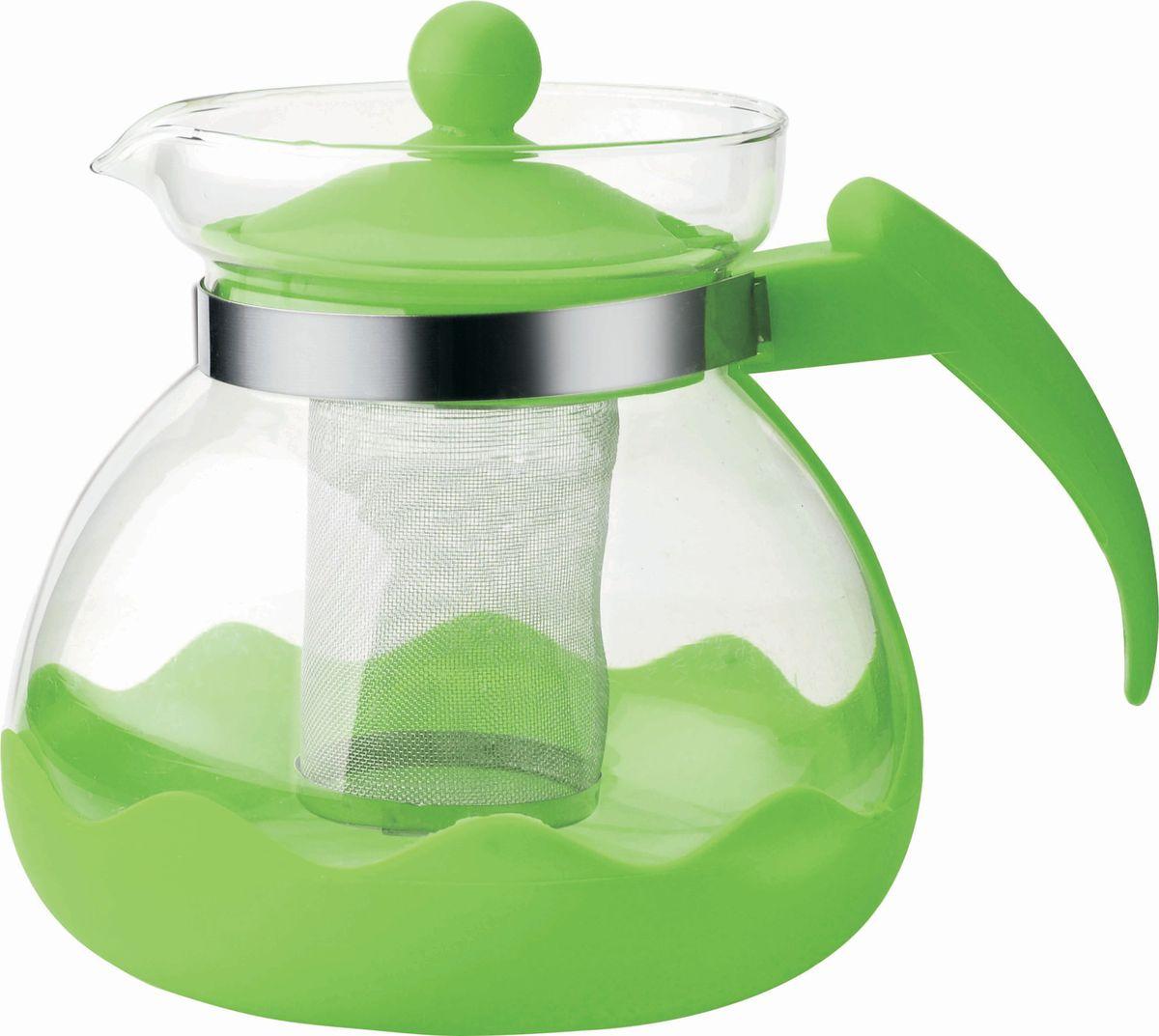 Чайник заварочный Bekker, цвет: темно-зеленый, 1,5 лBK-7627Ручка и крышка пластиковая цветная. Ситечко из нержавеющей стали. Подходит для чистки в посудомоечной машине. Состав: жаропрочное стекло. Объем: 1,5 л.