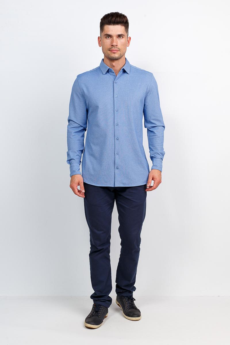 Рубашка мужская Greg, цвет: голубой. G143-ML. Размер 58 springtime babies