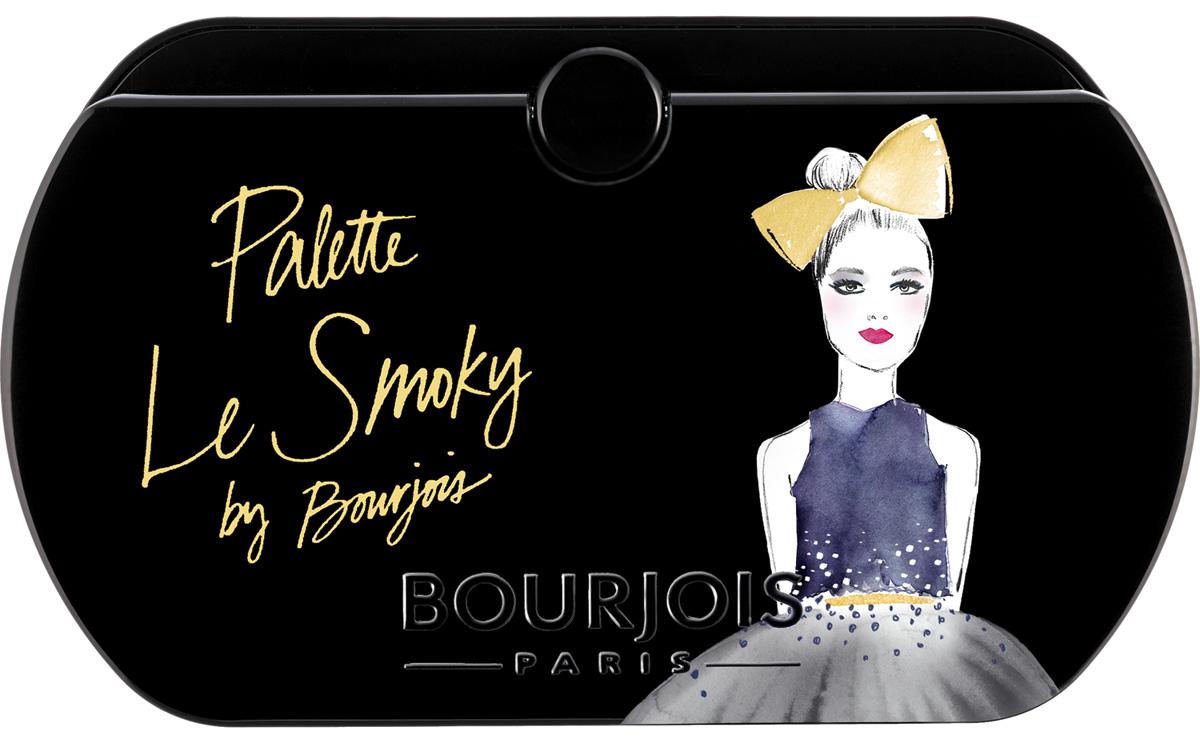 Bourjois Палетка Теней Palette Тон 0229199153002Кремово-пудровая текстура. 8 глубоких оттенков в 1 палетке.