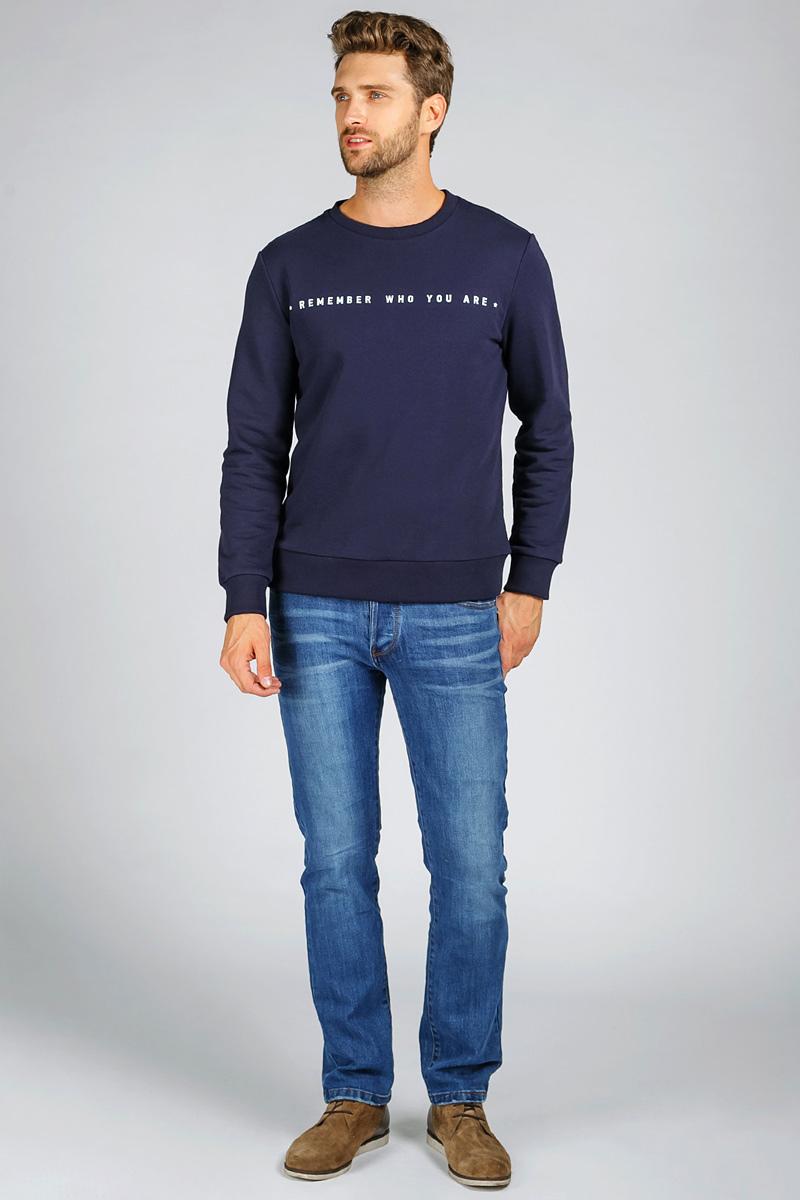 Джинсы мужские Tom Farr, цвет: голубой. T4FM5140.34808-2-coll. Размер 31-34 (48/50-34)T4FM5140.34808-2-collМужские джинсы от Tom Farr выполнены из эластичного хлопкового денима. Модель прямого кроя в поясе застегивается на пуговицы, имеются шлевки для ремня. Джинсы имеют классический пятикарманный крой.