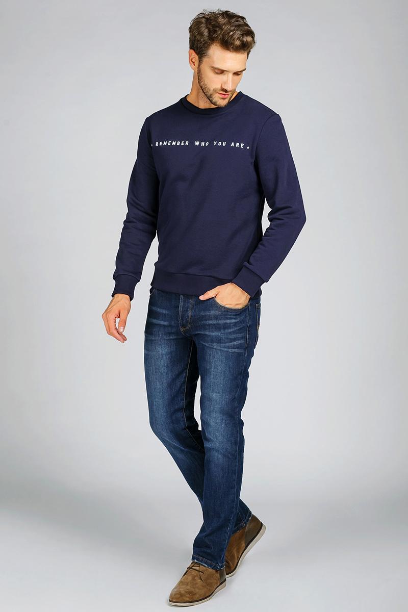 Джинсы мужские Tom Farr, цвет: синий. T4FM5140.36808-2-coll. Размер 34-34 (52-34)T4FM5140.36808-2-collМужские джинсы от Tom Farr выполнены из эластичного хлопкового денима. Модель прямого кроя в поясе застегивается на пуговицу и имеет ширинку на молнии, имеются шлевки для ремня. Джинсы имеют классический пятикарманный крой.