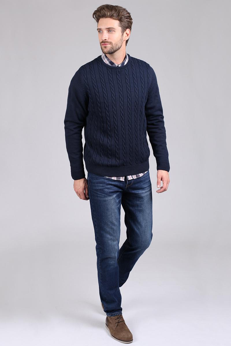 Джинсы мужские Tom Farr, цвет: синий. T4FM5170.36808-2-coll. Размер 30-34 (48-34)T4FM5170.36808-2-collМужские джинсы от Tom Farr выполнены из натурального хлопкового денима. Модель прямого кроя в поясе застегивается на пуговицу и имеет ширинку на молнии, имеются шлевки для ремня. Джинсы имеют классический пятикарманный крой.