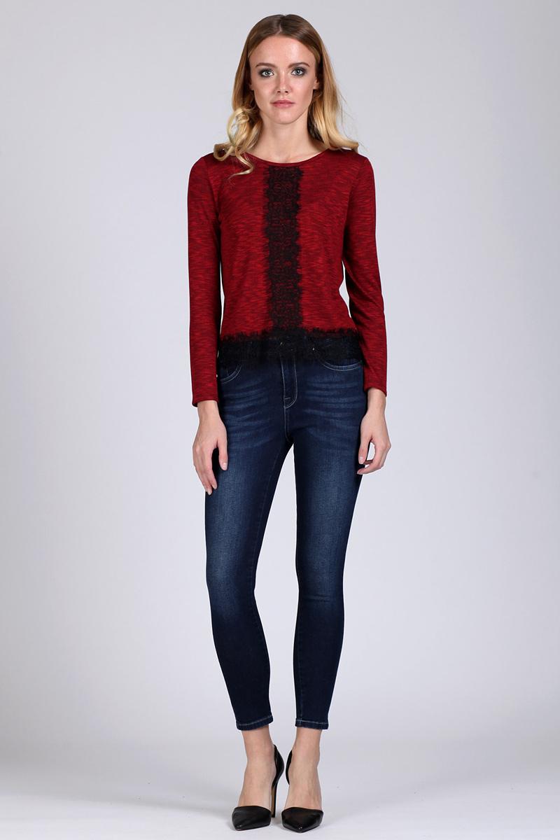 Джемпер женский Tom Farr, цвет: бордовый. TW4558.28808-1-coll. Размер XS (42)