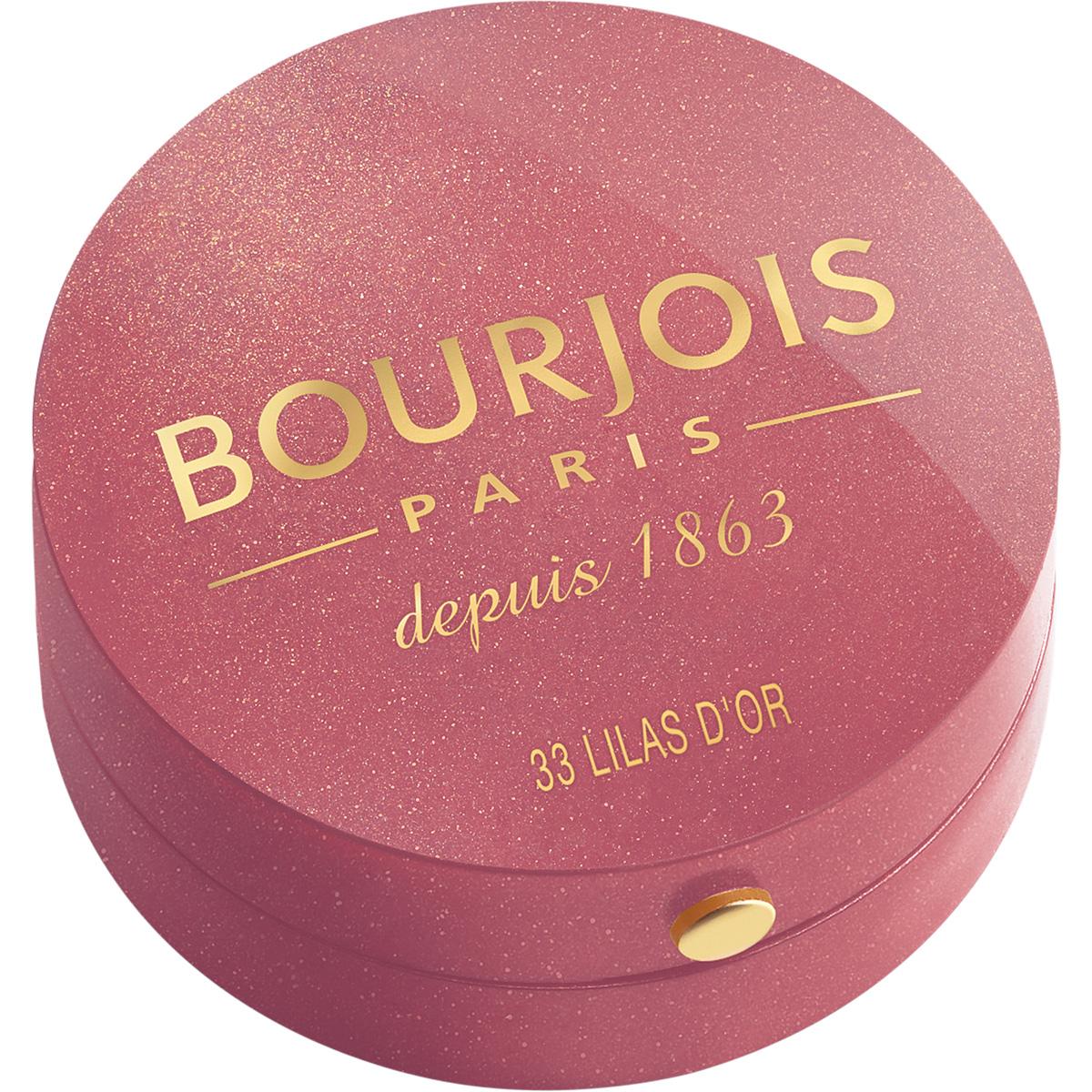 Bourjois Румяна blush 33 тон 2 мл29101562033Шелковая текстура румян при соприкосновении с кожей превращается в легкую, бархатистую пудру. Румяна невероятно легко наносятся и идеально ложатся. Твоя кожа выглядит потрясающе! Нежнейшая кисточка из натурального колонка творит чудеса! Потрясающая отдушка с ароматом розы, характерная для румян Bourjos, создает настроение легкости, а встроенное зеркальце облегчает нанесение. Cтолько соблазна в одной маленькой круглой баночке!