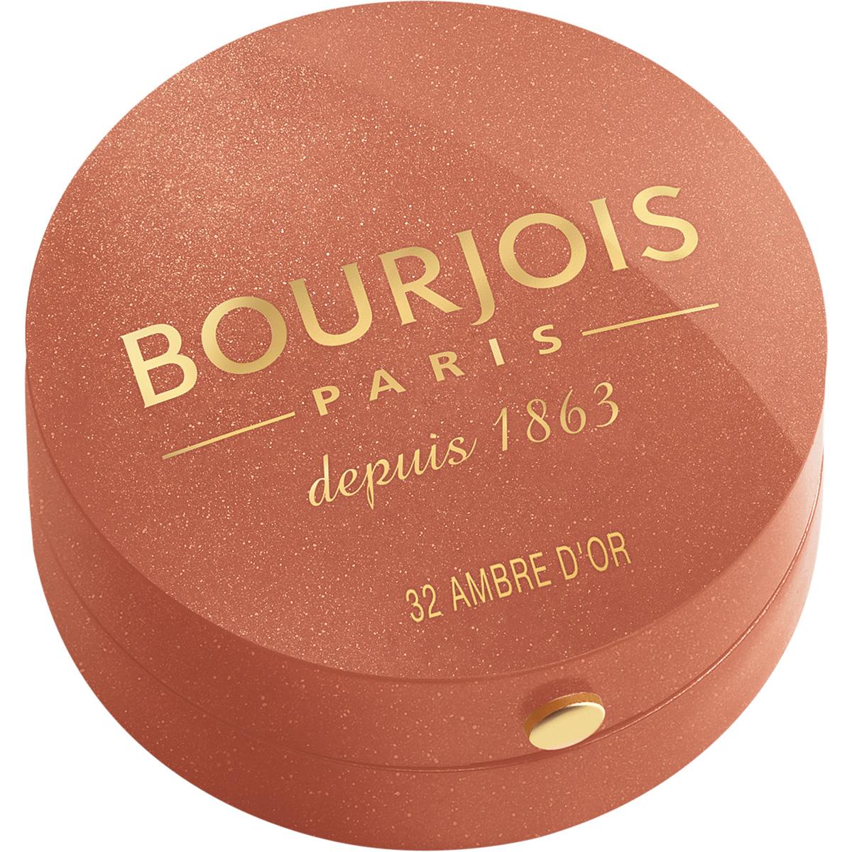 Bourjois Румяна blush 32 тон 2 мл29101562032Продукт - символ марки Bourjois, выпускаемый с 1863 года.Шелковая текстура румян при соприкосновении с кожей превращается в легкую, бархатистую пудру. Румяна невероятно легко наносятся и идеально ложатся. Твоя кожа выглядит потрясающе! Нежнейшая кисточка из натурального колонка творит чудеса! Потрясающая отдушка с ароматом розы, характерная для румян Bourjos, создает настроение легкости, а встроенное зеркальце облегчает нанесение.Cтолько соблазна в одной маленькой круглой баночке!