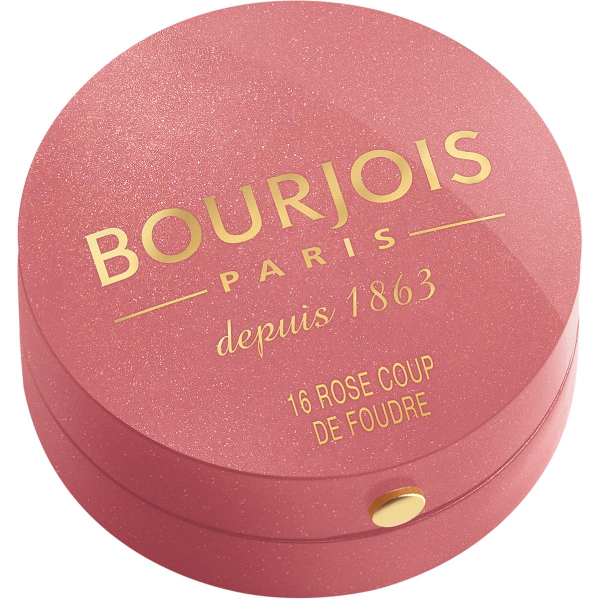 Bourjois Румяна blush 16 тон 2 мл29101562016Продукт - символ марки Bourjois, выпускаемый с 1863 года.Шелковая текстура румян при соприкосновении с кожей превращается в легкую, бархатистую пудру. Румяна невероятно легко наносятся и идеально ложатся. Твоя кожа выглядит потрясающе! Нежнейшая кисточка из натурального колонка творит чудеса! Потрясающая отдушка с ароматом розы, характерная для румян Bourjos, создает настроение легкости, а встроенное зеркальце облегчает нанесение.Cтолько соблазна в одной маленькой круглой баночке!