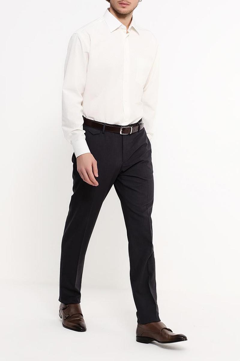 Рубашка мужская Greg, цвет: бежевый. 513/319/60. Размер 46 (60) рубашка c n c costume national рубашки с отложным воротником