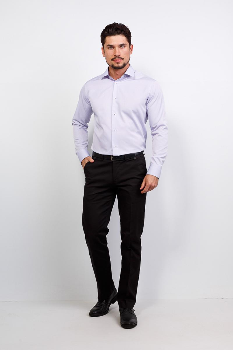 Рубашка мужская Casino, цвет: сиреневый. c171/15/117/Z/1. Размер 44 (56-174/184) shirt men s short sleeve casino c335 0 7461 z gray