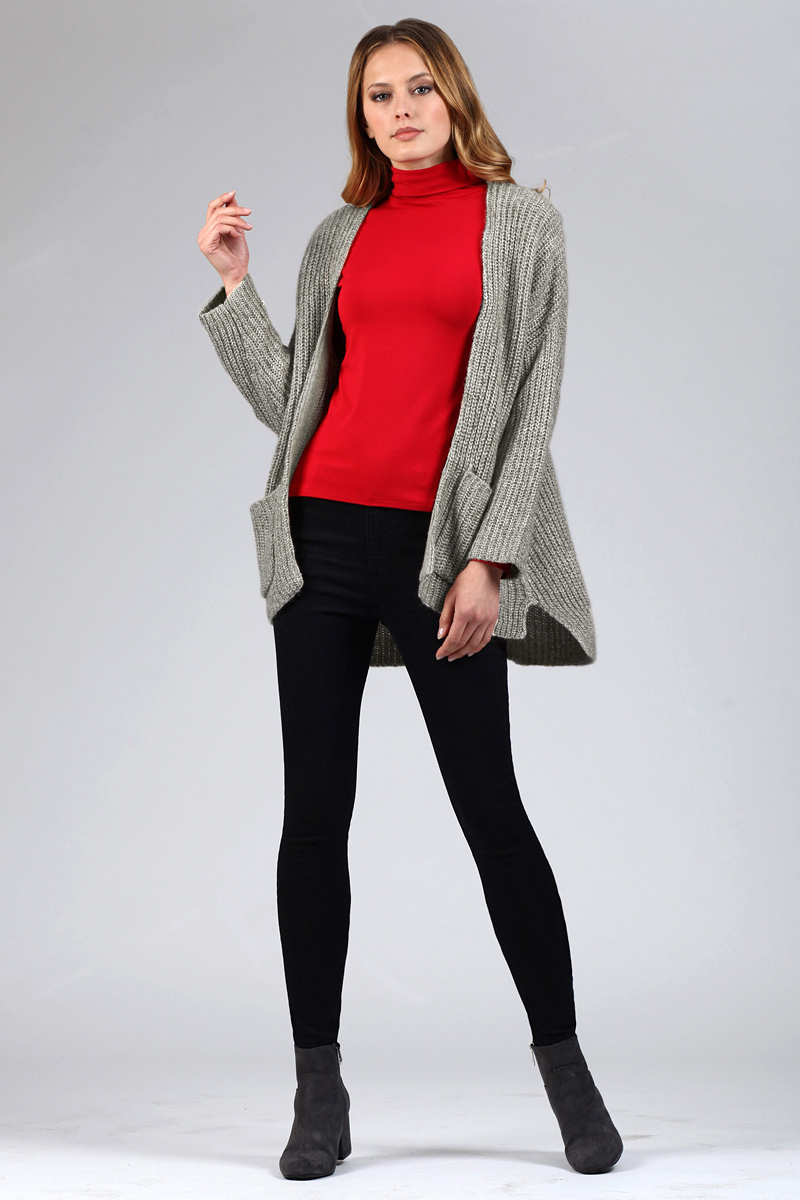 Кардиган женский Tom Farr, цвет: серый. TW4566.55808-1-coll. Размер XS (42)