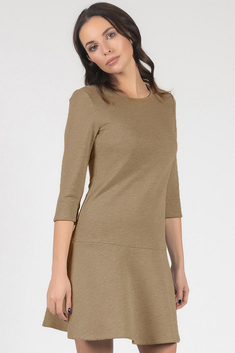 Платье Tom Farr, цвет: бежевый. TW8672.95701-2-coll. Размер S (44) костюмы tom farr костюм