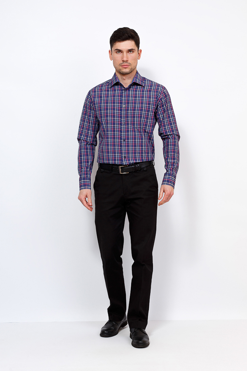 цены Рубашка мужская Casino, цвет: синий. c265/1/1486/Z/1. Размер 44 (56-174/184)