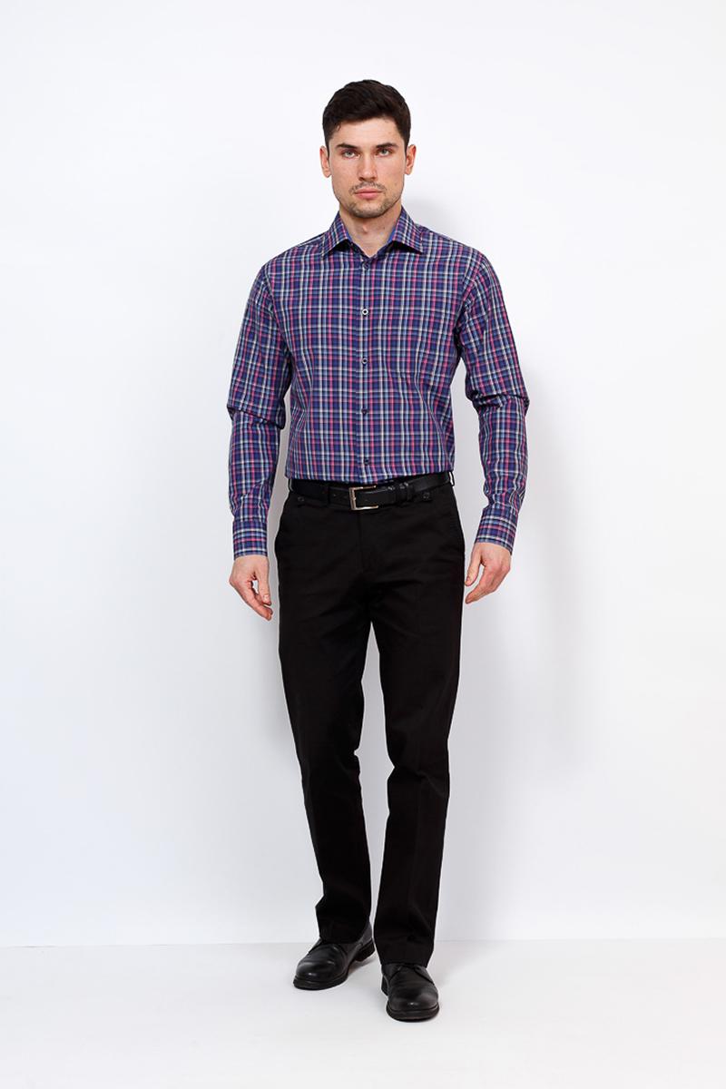 Рубашка мужская Casino, цвет: синий. c265/1/1486/Z/1. Размер 44 (56-174/184) рубашка мужская casino цвет синий c230 1 010 z размер 44 56 174 184