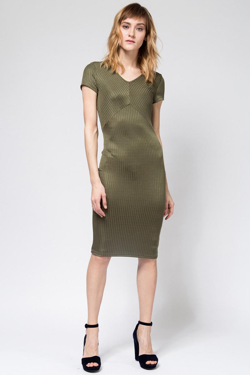 Платье Tom Farr, цвет: хаки. TW8642.47703-1-coll. Размер XS (42)