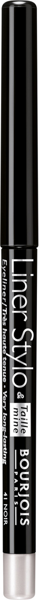 Bourjois контурный карандаш для макияжа глаз с точилкой LINER STYLO 41 тон 1 мл29101499041Liner Stylo сочетает в себе преимущества контурного карандаша и точность жидкой подводки. Летучий силикон обеспечивает отличную стойкость макияжа. Карандаш скользит по веку, рисуя тонкую линию одним движением. Точилка, встроенная в карандаш, позволяет содержать грифель в идеальном состоянии.