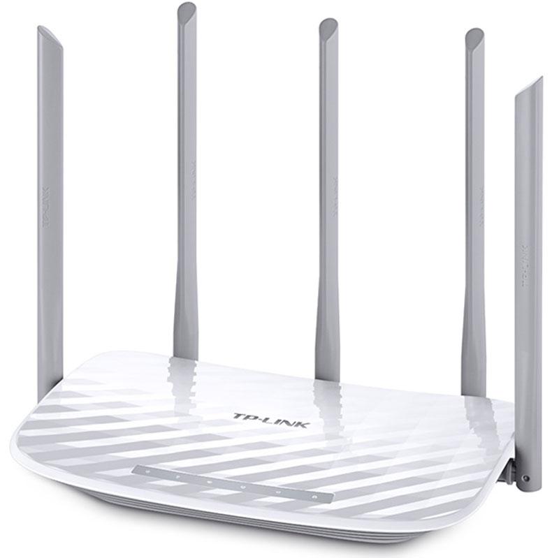 TP-Link Archer C60 Wi-Fi роутерArcher C60TP-Link Archer C60 поддерживает новейший стандарт беспроводной связи 802.11ac. Он позволит выполнять ресурсоёмкие задачи, а также запускать приложения на скорости, которая в 3 раза выше показателей стандарта 802.11n. В результате вы получите: более быстрый и мощный Wi-Fi, который позволит вам раскрыть потенциал ваших устройств на максимум.Archer C60 обеспечит одновременное Wi-Fi подключение в двух диапазонах. Канал 2,4 ГГц: 3x3 MIMO создаёт стабильный Wi-Fi на скорости до 450 Мбит, что делает его идеальным для таких задач, как отправка e-mail, просмотр веб-страниц и прослушивание музыки. Канал 5 ГГц: скорость до 867 Мбит/с для ресурсоёмких приложений – позволяет смотреть потоковое HD-видео, играть в онлайн-игры и проводить видеоконференции без задержек.Archer C60 обладает 5 антеннами, три из которых вещают на 2,4 ГГц, а две – на 5 ГГц. Они установлены поочерёдно для оптимизации передачи двухдиапазонного Wi-Fi по стандарту 802.11ac – это обеспечивает максимальное покрытие сети и противодействие помехам.Родительский контрольОбеспечивает контроль доступа в Интернет для детей или персонала. Блокировка URL позволяет легко создать чёрный или белый список для блокировки доступа в Интернет.Гостевая сетьПозволяет гостям подключаться к отдельной сети Wi-Fi, обеспечивая безопасность личных данных. Делиться Интернетом, сохраняя безопасность, стало легче.Благодаря удобному веб-интерфейсу Archer C60 настраивается в несколько минут. Вы также сможете управлять роутером со смартфона благодаря мобильному приложению Tether.