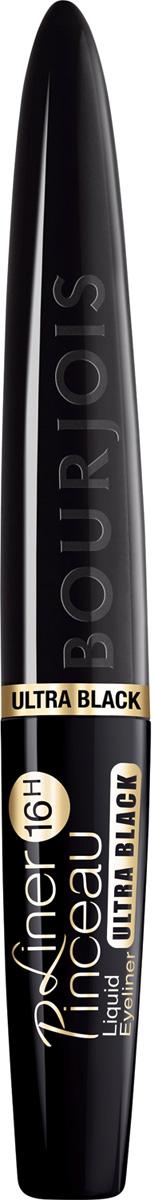 Bourjois Подводка Жидкая Для Глаз Liner Pinceau 16h Тон 35 ultra black 2,5 мл29101431035Стойкая подводка Liner Pinceau от Bourjois - must-have в твоей косметичке! - флюидная текстура обеспечивает наилучший результат нанесения, интенсивности цвета и формы; - аппликатор позволяет нарисовать максимально точную линию, варьируя широту от тоненькой до широкой стрелки; Результат: насыщенные совершенные стрелки, которые остаются на веках до 16 часов!